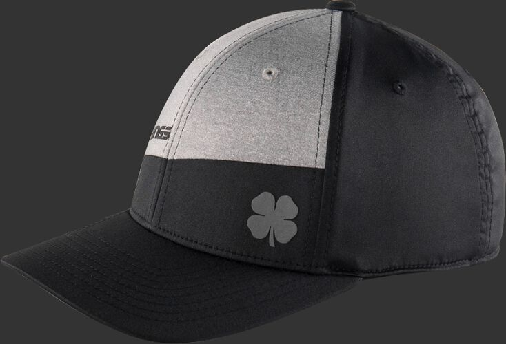 Side of a black/grey Rawlings Black Clover RBC Sport snapback hat - SKU: BCRBC10061