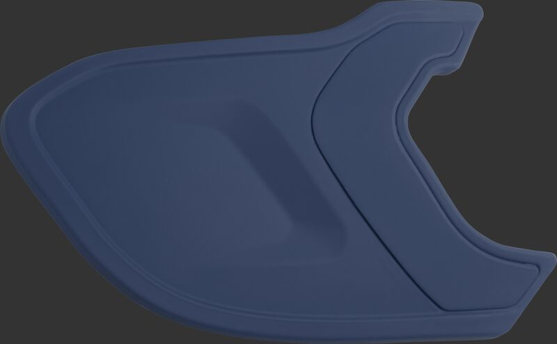 A matte navy MEXT Mach EXT batting helmet extension