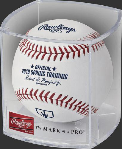 A ROMLBSTAZ19 2019 MLB Arizona Spring Training ball in a clear display cube