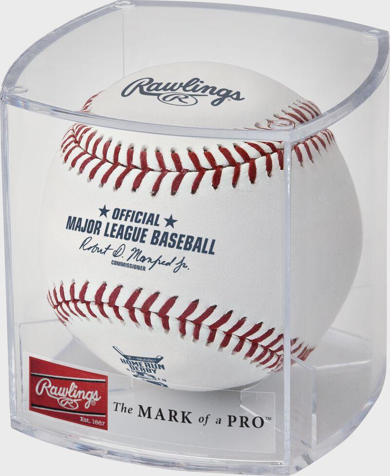ROMLBHR19 Official MLB 2019 Home Run Derby baseball in a plastic display cube