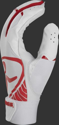 White thumb of a 5150 adult batting glove with scarlet accents - BR51BG-S