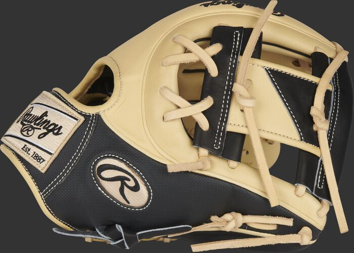 Thumb of a black/camel Heart of the Hide ColorSync 5.0 infield glove with a black/camel I-web - SKU: PRO234-2CB