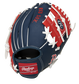 Back of a navy/red Boston Red Sox 10-inch I-web glove with a red Rawlings patch - SKU: 22000024111 image number null