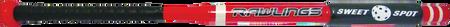 A red/black LITESTIKBAT lite-stik training bat