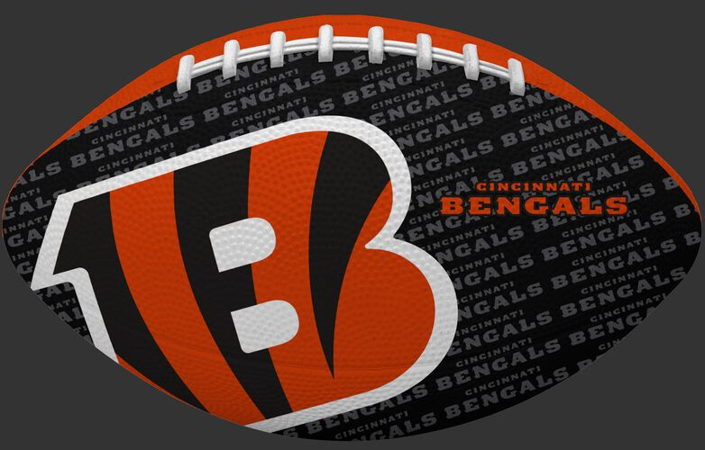 Black side of a NFL Cincinnati Bengals Gridiron football with the team logo SKU #09501063121