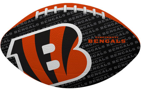 Black side of a NFL Cincinnati Bengals Gridiron football with the team logo