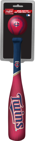 Rawlings Minnesota Twins Softee Mini Bat and Ball Set in Team Colors With Team Name and Logo On Front SKU #01160028114