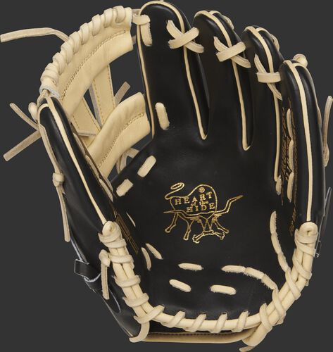 PROR882-7BC Heart of the Hide R2G infield glove with a black palm and camel laces