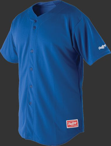 Front of Rawlings Royal Youth Short Sleeve Jersey  - SKU #YBJ150
