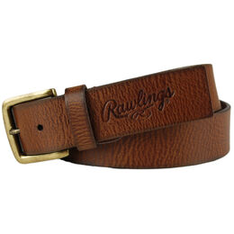 Buff Tipped Tan Leather Belt