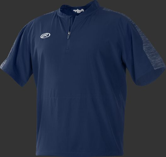 Front of Rawlings Navy Youth Launch Cage Jacket - SKU #YLNCCJ-B-89