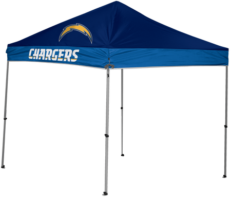 NFL Los Angeles Chargers 9x9 shelter with 4 team logos
