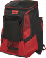 Front left of a scarlet/black R600 Rawlings backpack without bats image number null