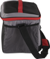 Side of a black Rawlings 24 can soft cooler with a shoulder strap and mesh pocket on the side - SKU: 10224043511 image number null