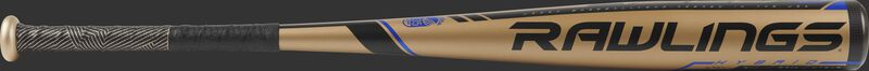UT9V8 USSSA Velo -8 bat with a gold barrel and black accents
