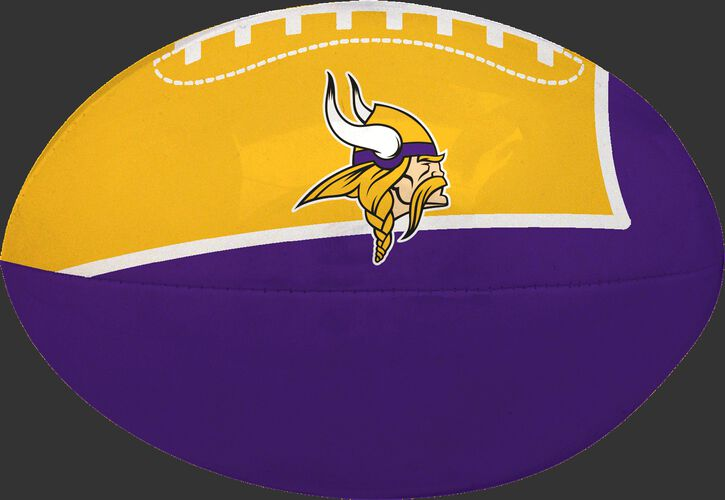 Purple and Gold NFL Minnesota Vikings Football With Team Logo SKU #07831075114