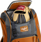 A Rawlings baseball glove in the top compartment of a Franchise baseball backpack - SKU: FRANBP-O image number null