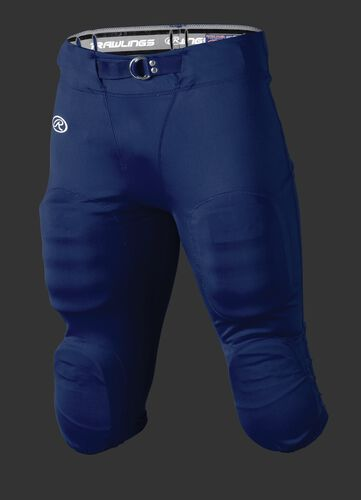 Front of Rawlings Navy Adult Slotted Football Pant - SKU #FP147