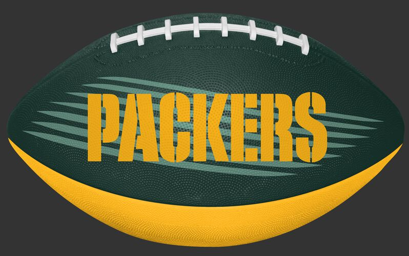 Rawlings Green and Yellow NFL Green Bay Packers Downfield Youth Football With Team Name SKU #07731068121