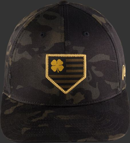 Front View of Rawlings Black Clover Special Edition Camouflage Snapback Hat - SKU #BCRBCM0061
