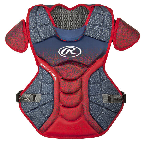 Velo Adult Chest Protector Navy/Scarlet