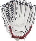 RLA125FS-15WNS Rawlings 12.5-inch softball outfield/pitcher's glove with a white palm and navy laces image number null