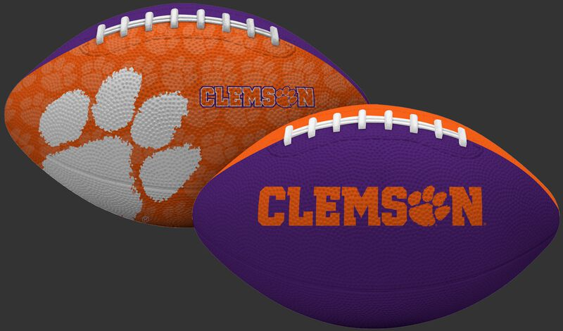 Orange and Purple NCAA Clemson Tigers Gridiron Football With Team Name and Logo SKU #07203010121