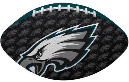 Black side of a NFL Philadelphia Eagles Gridiron football with the team logo