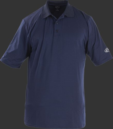 Front of Rawlings Adult Navy Short Sleeve Polo Shirt - SKU #GGPOLO