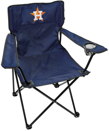Front of Rawlings Navy Blue MLB Houston Astros Gameday Elite Chair With Team Logo SKU #06110002111