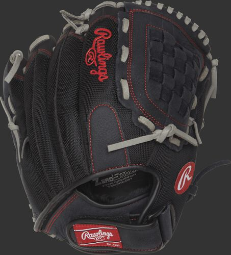 R125BGS Renegade 12.5-inch infield/outfield glove with a black mesh back and velcro wrist strap
