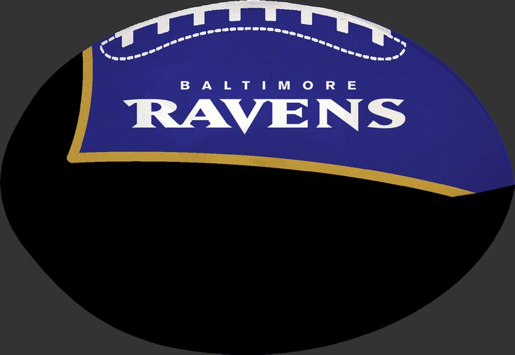 Black and Purple NFL Baltimore Ravens Football With Team Name SKU #07831092114