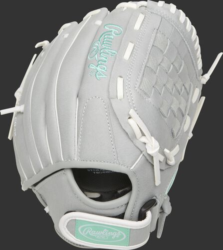 SCSB110M 11-inch Sure Catch youth Basket web softball glove with a grey back and Velcro wrist strap