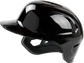 Left side of a Rawlings Mach single ear batting helmet with no ear flap on the left side - SKU: MSE01A-LHB image number null