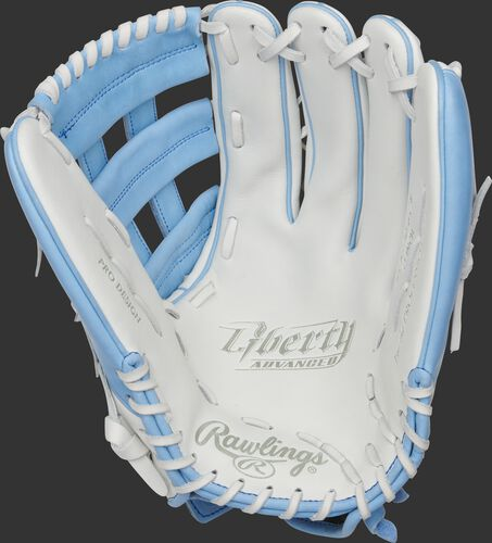Liberty Advanced Color Series 13-Inch Outfield Glove White/Columbia Blue