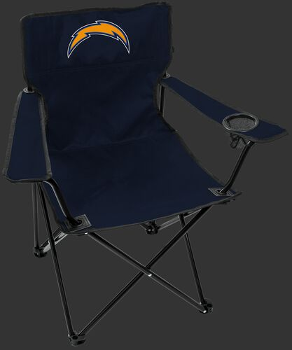Front of Rawlings Navy Blue NFL Los Angeles Chargers Gameday Elite Chair With Team Logo SKU #00551083111
