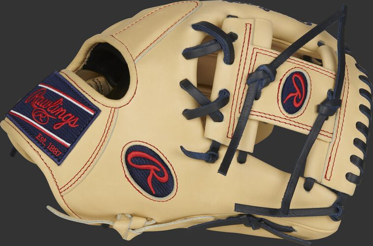 Thumb of a camel 2021 11.5-Inch Pro Preferred infield glove with a camel I-web - SKU: PROS204-2C