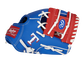 """Thumb of a blue/red Texas Rangers 10-inch team logo glove with a red I-web and """"T"""" logo on the thumb - SKU: 22000022111 image number null"""