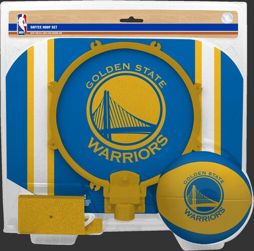 Rawlings Yellow and Blue NBA Golden State Warriors Softee Hoop Set With Team Logo SKU #03544218114