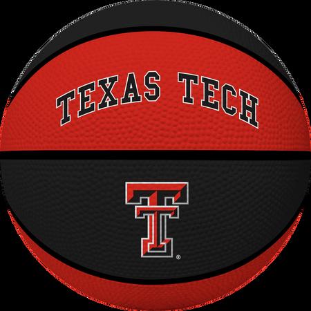 A red/black NCAA Texas Tech Red Raiders rubber basketball
