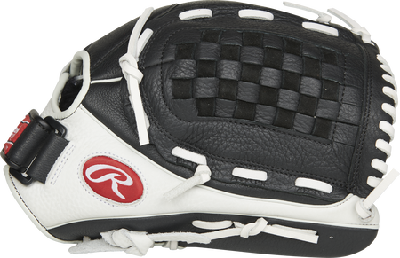 RSO125BW Shut Out 12.5-Inch outfield/pitcher's glove with a white thumb and black Basket web
