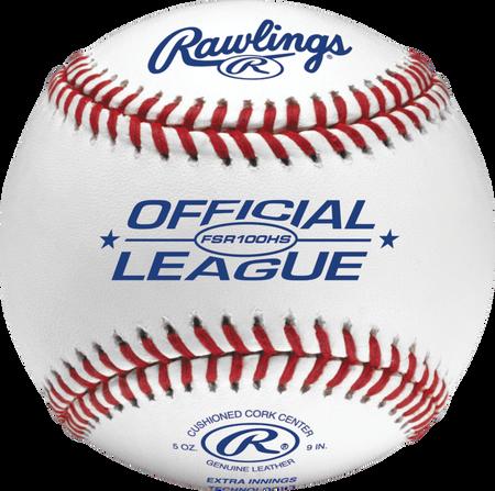 FSR100HS Flat seam baseball with the Official League logo