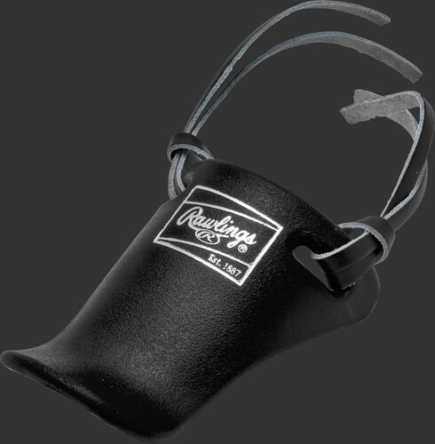 Rawlings Black Youth Throat Protector With Brand Logo SKU #TP4-B