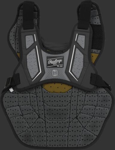Back harness of a black CPV2N adult Velo 2.0 chest protector with Dynamic Fit System 2.0