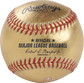 A Los Angeles Dodgers Rawlings Gold MLB team baseball with the official ball MLB stamp - SKU: RSGEA-GOLDLAD-R image number null