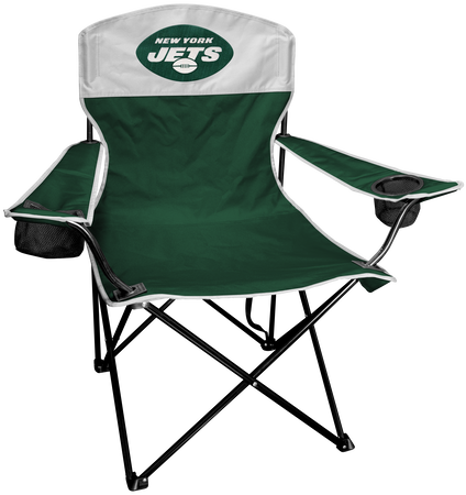 NFL New York Jets Lineman chair with team colors and logo on the back