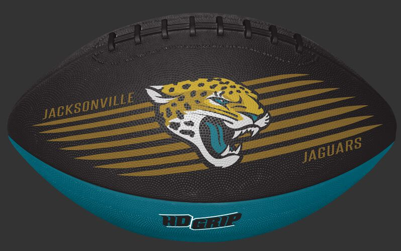 Black and Teal NFL Jacksonville Jaguars Downfield Youth Football With Team Logo SKU #07731091121