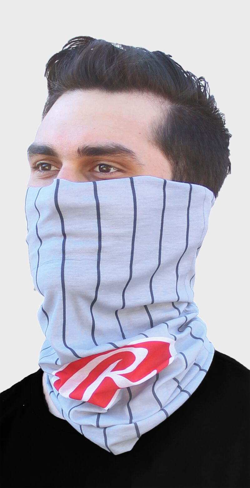 Rawlings Adult Multi-Functional Head and Face Gear   Grey Pinstripe