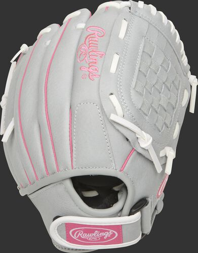 SCSB105P 10.5-inch Sure Catch Softball youth Basket web glove with a Velcro wrist strap