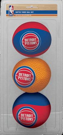 NBA Detroit Pistons Three-Point Softee Basketball Set